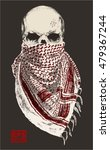 skull with bandana or scarf... | Shutterstock .eps vector #479367244