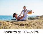 mother and son doing exercises... | Shutterstock . vector #479372398