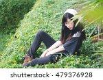 portrait of charming asian girl ... | Shutterstock . vector #479376928