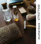 vintage shaving kit for man ... | Shutterstock . vector #479377540