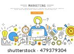 marketing and finance linear...   Shutterstock .eps vector #479379304