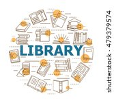 online library concept with... | Shutterstock .eps vector #479379574