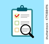 clipboard with survey  quiz or... | Shutterstock .eps vector #479388496
