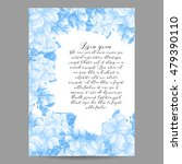 invitation with floral... | Shutterstock . vector #479390110