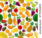 fruits seamless vector pattern... | Shutterstock .eps vector #479396890