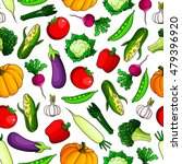 fresh farm vegetables seamless... | Shutterstock .eps vector #479396920