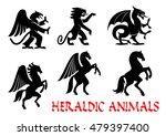 animals heraldic emblems.... | Shutterstock .eps vector #479397400