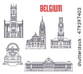historic buildings of belgium.... | Shutterstock .eps vector #479397403