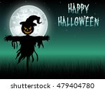 halloween scary scarecrow at... | Shutterstock .eps vector #479404780