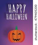 happy halloween paper art 3d... | Shutterstock .eps vector #479405200