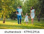 happy young family of four... | Shutterstock . vector #479412916