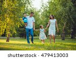 happy young family of four... | Shutterstock . vector #479413003