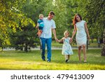 happy young family of four... | Shutterstock . vector #479413009