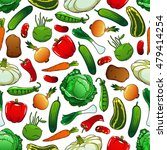 pattern of fresh vegetables on... | Shutterstock .eps vector #479414254