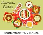 american cuisine typical dinner ... | Shutterstock .eps vector #479414326