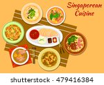 singaporean cuisine chicken... | Shutterstock .eps vector #479416384