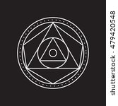 alchemical round. white symbol... | Shutterstock .eps vector #479420548