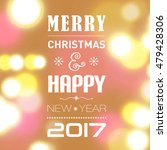 merry christmas post card... | Shutterstock .eps vector #479428306