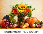 Autumn Still Life With Flowers...