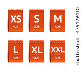 red size clothing labels set.... | Shutterstock .eps vector #479429410