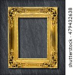 gold frame on  grey black slate ... | Shutterstock . vector #479432638