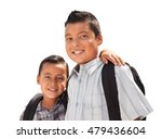 young hispanic student brothers ... | Shutterstock . vector #479436604