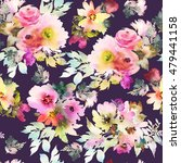 seamless pattern with flowers... | Shutterstock . vector #479441158