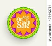 creative sale banner or sale... | Shutterstock .eps vector #479442754