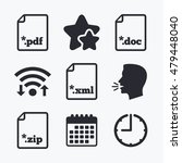 download document icons. file... | Shutterstock .eps vector #479448040