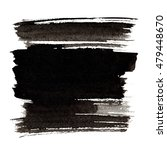 black brush strokes isolated on ... | Shutterstock . vector #479448670