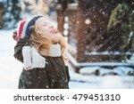 happy child girl catching... | Shutterstock . vector #479451310