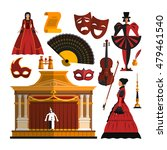 Vector Set Of Theater Object...