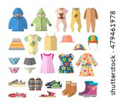 vector set of baby clothes in... | Shutterstock .eps vector #479461978
