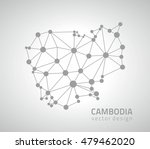 cambodia grey dot polygonal... | Shutterstock .eps vector #479462020