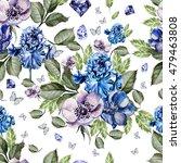 beautiful colorful watercolor... | Shutterstock . vector #479463808