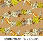 seamless doodle vector pattern... | Shutterstock .eps vector #479473804