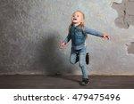 cute toddler girl posing... | Shutterstock . vector #479475496