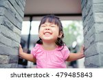 Little Girl Child Showing Fron...