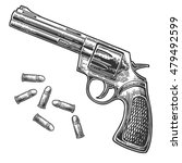 revolver with bullets. vector... | Shutterstock .eps vector #479492599