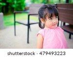 little asian girl looking up on ... | Shutterstock . vector #479493223