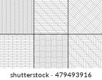 black and white simple wooden... | Shutterstock .eps vector #479493916