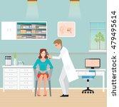 doctor examining patient ear... | Shutterstock .eps vector #479495614