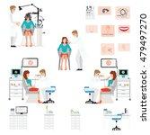 doctor examining patient with... | Shutterstock .eps vector #479497270