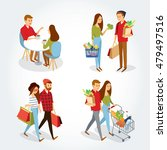 vector sets with people going... | Shutterstock .eps vector #479497516