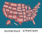 poster map of united states of... | Shutterstock .eps vector #479497699