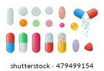 set of vector pills and... | Shutterstock .eps vector #479499154