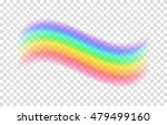 transparent rainbow. vector... | Shutterstock .eps vector #479499160