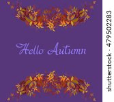 autumn grape vine garland frame ... | Shutterstock .eps vector #479502283