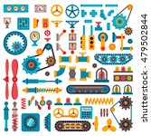 machine parts gears different... | Shutterstock .eps vector #479502844