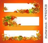horizontal fall banners set.... | Shutterstock . vector #479502928